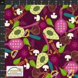 Tissu Stof Fabrics My veggie kitchen - 489