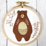 Kit tambour appliqué folklore l'ours calin - 490