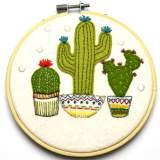 Kit tambour appliqué cactus en pot - 490