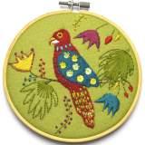 Kit tambour appliqué perroquet - 490