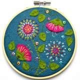 Kit tambour appliqué fleurs tropicales - 490