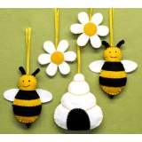 Kit feutrine abeilles, ruche et fleurs - 490