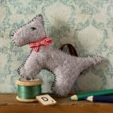 Mini kit feutrine le chien gris - 490