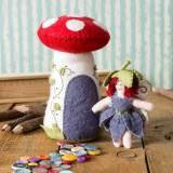 Mini kit feutrine champignon coussin à épingles - 490