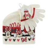 """Set bonnet + gants t 52-54 """"minnie""""  écru - 491"""