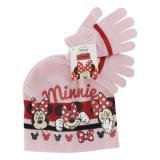 """Set bonnet + gants t 52-54 """"minnie""""  rose - 491"""