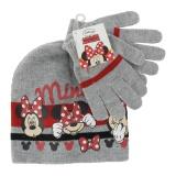"""Set bonnet + gants t 52-54 """"minnie""""  gris - 491"""