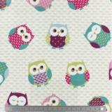 Tissu Fryett's enduit owls multi132cm - 492