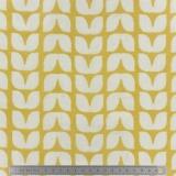 Tissu enduit Fryett's tulips ochre - 492