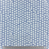 Tissu enduit Fryett's spotty china blue 137cm - 492