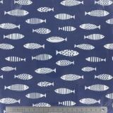 Tissu enduit Fryett's fishes blue 137cm - 492