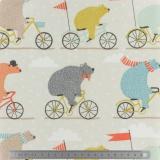 Tissu Fryett's enduit bear bike multic - 492
