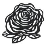 Fleur thermo adhésive 5cm noir - 493