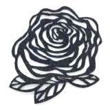 Fleur thermo adhésive 5cm marine - 493