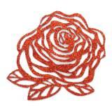 Fleur thermo adhésive 5cm rouge - 493