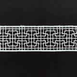 Macramé polyester 4cm blanc - 493