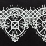 Macramé polyester motif 6x7cm blanc - 493