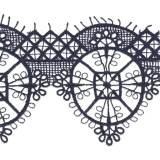 Macramé polyester motif 6x7cm marine - 493