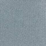 Tissu jacquard big knit gris-bleu - 495