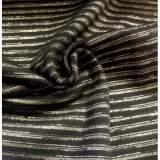 Bord-côte vintage bio noir lurex doré - 35cm - 495