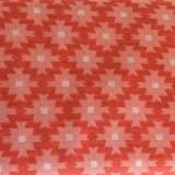 Tissu jacquard lil'ikat corail - 495