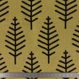 Tissu jacquard botanical trail coton moutarde150cm - 495
