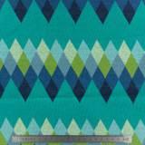 Tissu ALB Stoffe Bliss Jacquard Peak turquoise - 495