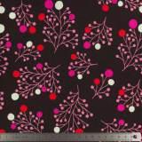 Tissu plain stitches snowberry bordeaux - 495