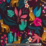 Tissu sweat Albstoffe sparklein the jungle - 495