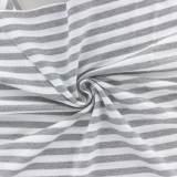 Tissu piqué rayé ALB Stoffe gris - 495