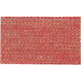 Ruban lin bicolore rouge fil doré 30 mm - 496