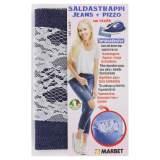 Pièce thermocollante jeans foncé + dentelle - 498