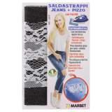 Pièce thermocollante jeans noir + dentelle - 498