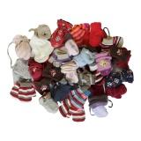 Lot de 5 paires de moufles bébé - 50