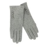 Gants f.4 boutons t.u-80% laine 20%polyam.-gris cl - 50