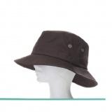 Chapeau coton huilé mixte t.56 marron - 50