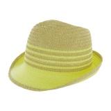 Chapeau fedora paille ajustable anis - t.u - 50