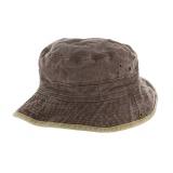 Chapeau brousse bicolore coton t.57 marron/beige - 50