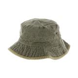 Chapeau brousse bicolore coton t.57 kaki/beige - 50