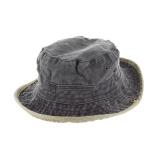 Chapeau brousse bicolore coton t.59 noir/beige - 50