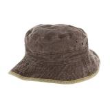 Chapeau brousse bicolore coton t.59 marron/beige - 50