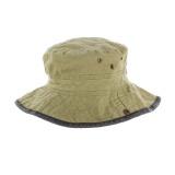 Chapeau brousse bicolore coton t.59 beige/noir - 50
