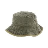 Chapeau brousse bicolore coton t.59 kaki/beige - 50