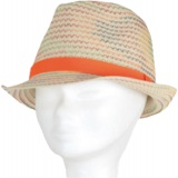 Chapeau enfant paille orange  t.51 - 50