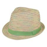 Chapeau enfant paille vert clair t.52 - 50
