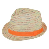 Chapeau enfant paille orange t.52 - 50