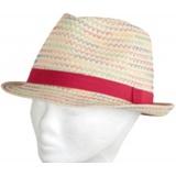 Chapeau enfant paille rouge  t.53 - 50