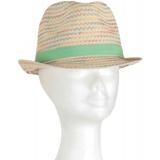 Chapeau enfant paille vert clair t.53 - 50