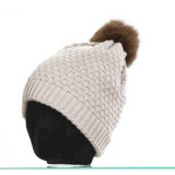 Bonnet pompon renard 100% acryl t.u beige - 50