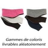 Bandeau polaire bicolore réversible lot de 3 - 50